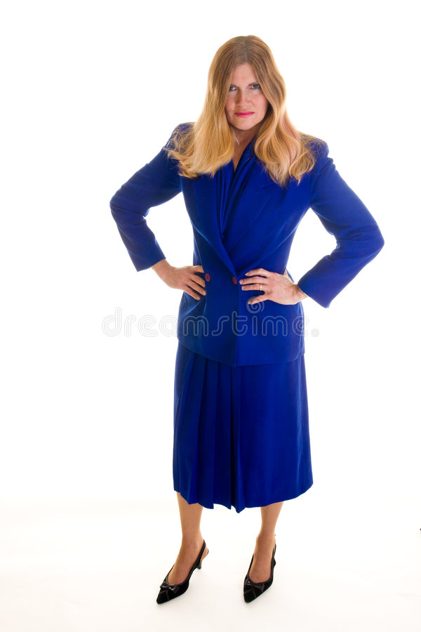 Angry Business Woman Full Length Stock Photography