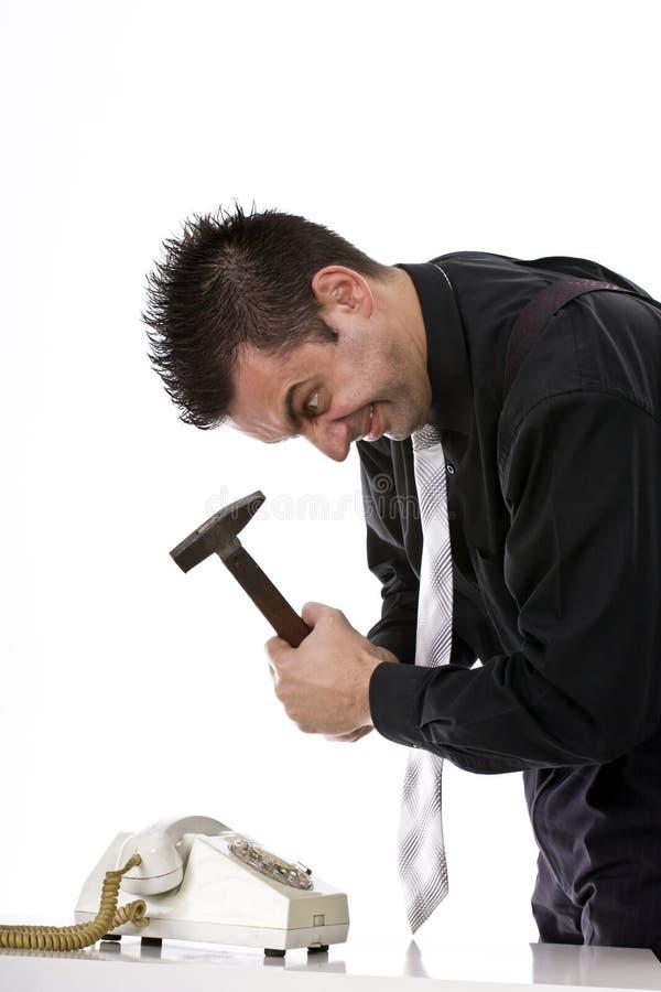 Angry businessman stock image