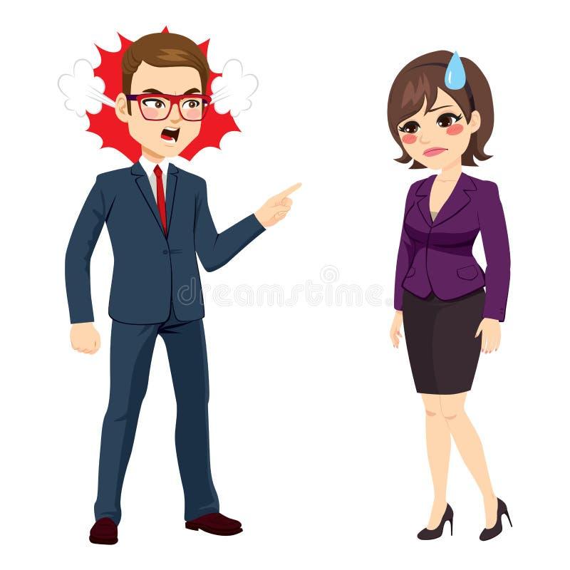 Businessman Firing Businesswoman royalty free illustration
