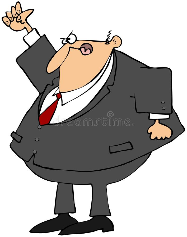 Angry Businessman Shaking His Fist Royalty Free Stock Image