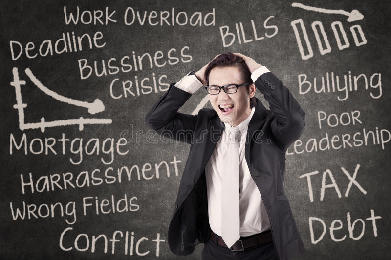 Download Angry Businessman Shouting In Class Stock Illustration - Image: 31676678