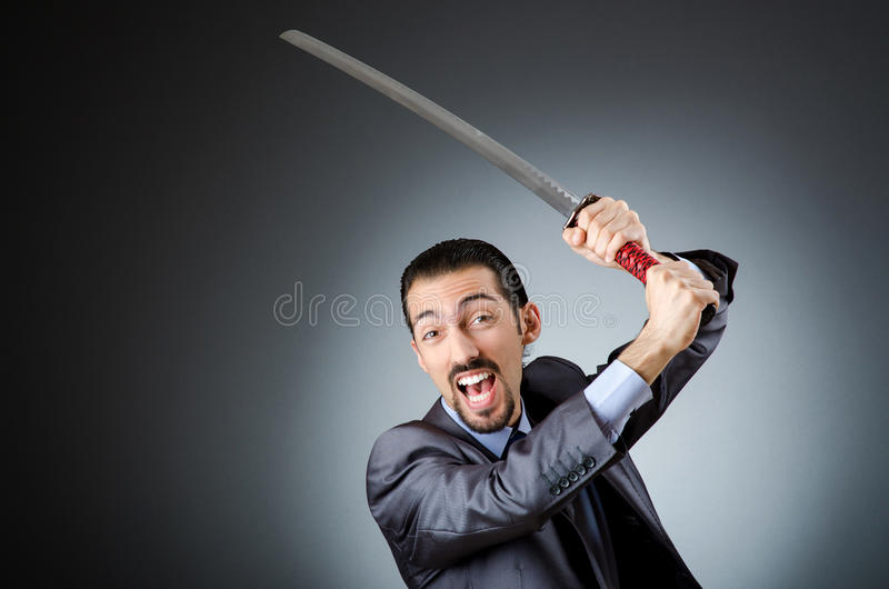 Download Angry businessman stock image. Image of samurai, duel - 29916505
