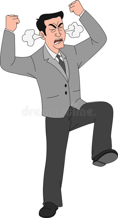 James W Rouse Business Person : Angry businessman stock vector illustration of business