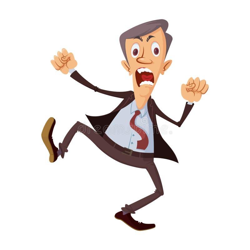 angry businessman yelling απεικόνιση αποθεμάτων