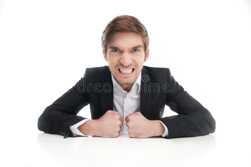 Angry businessman. royalty free stock photos