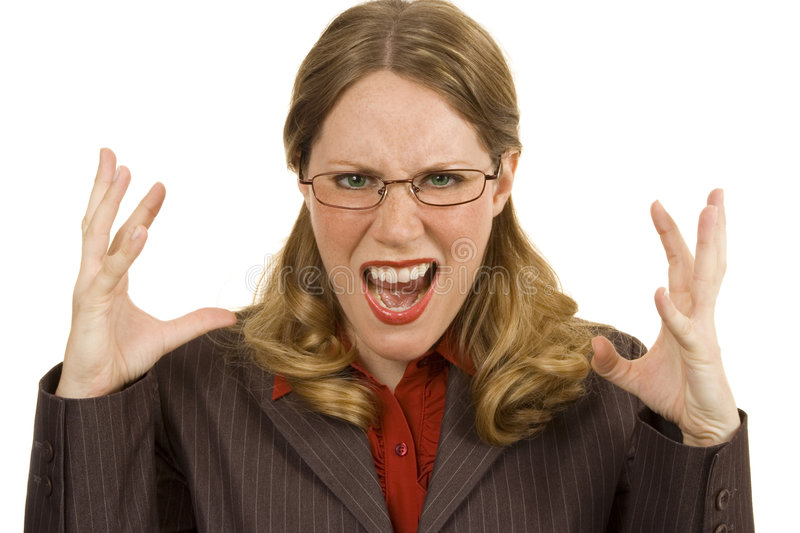 Download Angry Businessperson stock image. Image of isolated, blond - 2802811