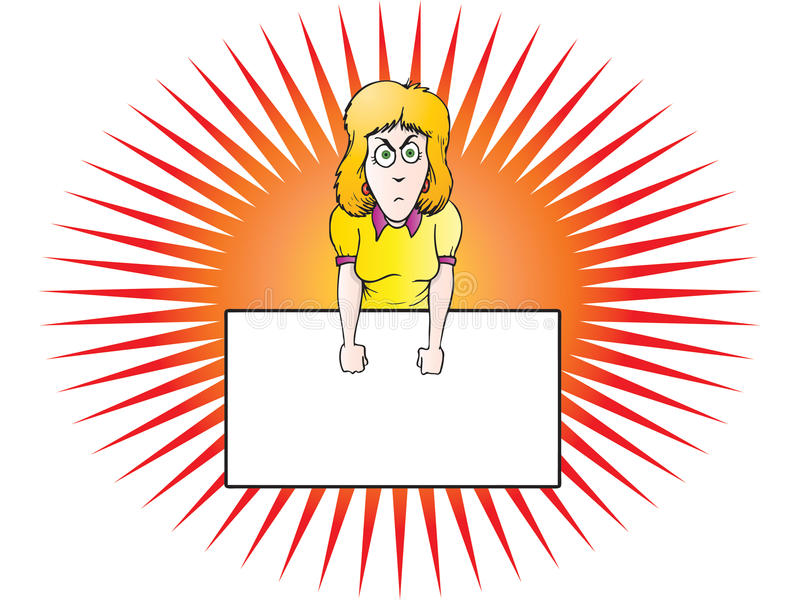 Angry Businesswoman royalty free illustration