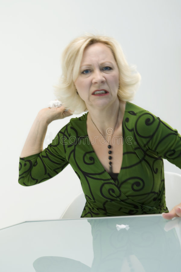 Download Angry businesswoman stock photo. Image of looks, businesswoman - 5620932
