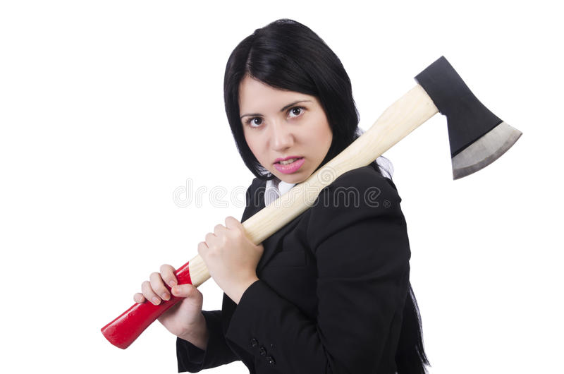 Download Angry Businesswoman With Axe Stock Images - Image: 31752784