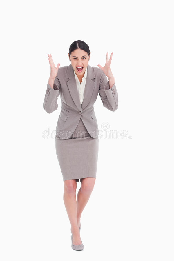 Download Angry Businesswoman Shouting Stock Photo - Image: 23013848