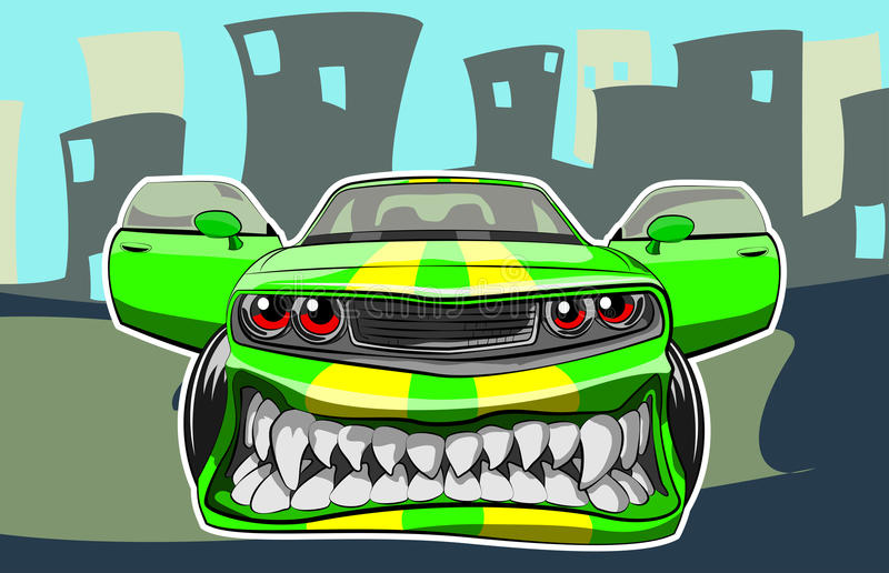 Angry car royalty free illustration