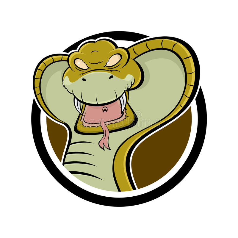 Download Angry cartoon cobra stock vector. Image of reptile, powerful - 25420959