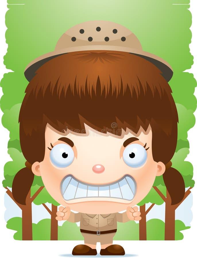 Free Angry Cartoon Girl Explorer Stock Photo - 115953670