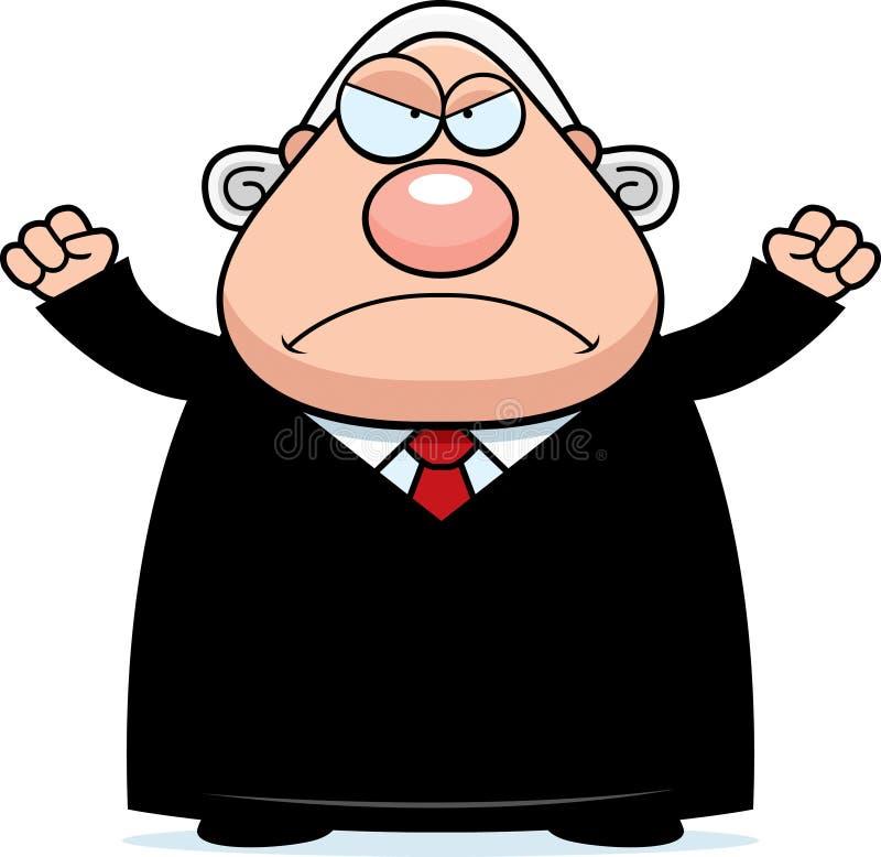 Angry Cartoon Judge vector illustration