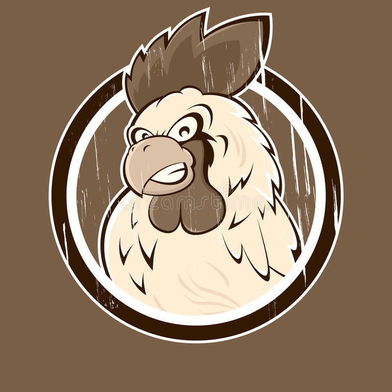 Angry Cartoon Rooster Icon