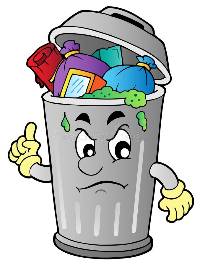 Free Angry Cartoon Trash Can Royalty Free Stock Photo - 20097315