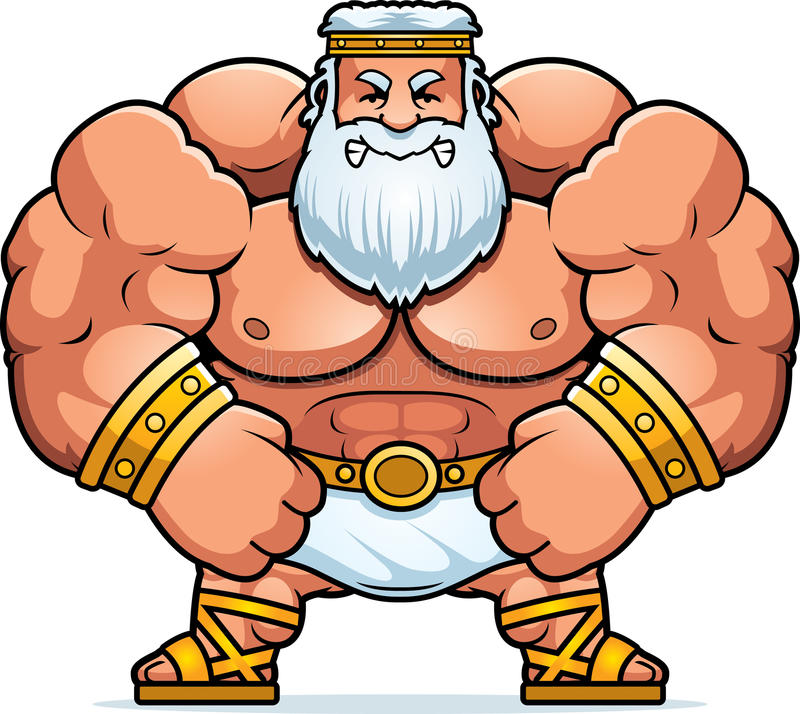 angry cartoon zeus stock vector illustration of greek 51211914 rh dreamstime com zeus clipart png statue of zeus clipart