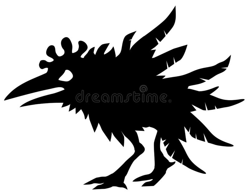 Angry Chicken Silhouette vector illustration