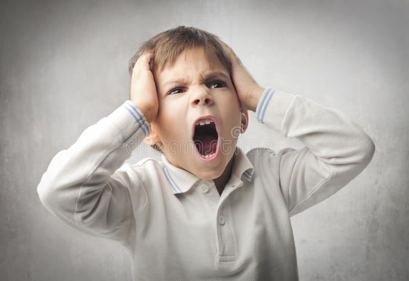 Angry child royalty free stock image