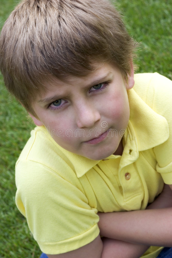 Angry Child stock photography