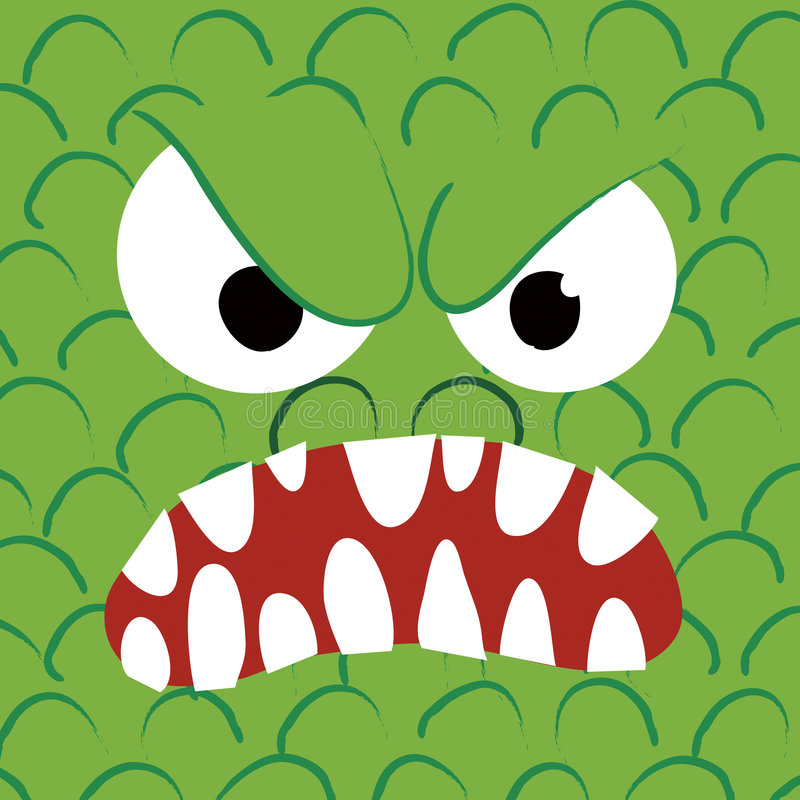 angry close monster up иллюстрация штока