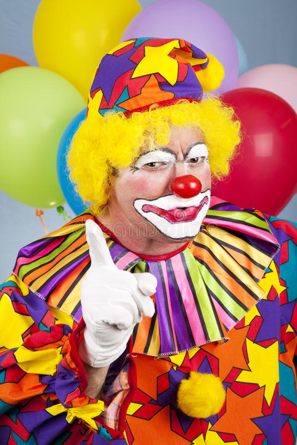 Download Angry Clown stock image. Image of pointing, colorful - 13689721