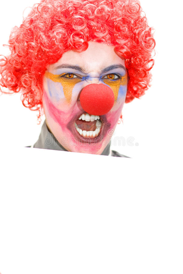 Download Angry Clown Holding Blank Sign Stock Photo - Image: 16513596