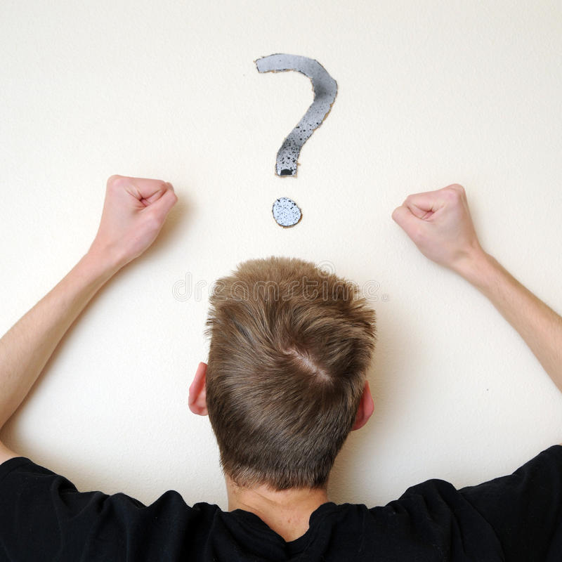 Angry And Confused For The Answer Royalty Free Stock Image