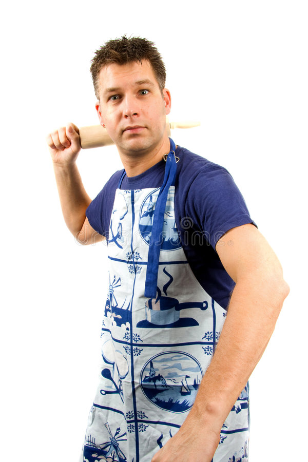 Download Angry cook stock image. Image of rolling, white, cook - 8129039