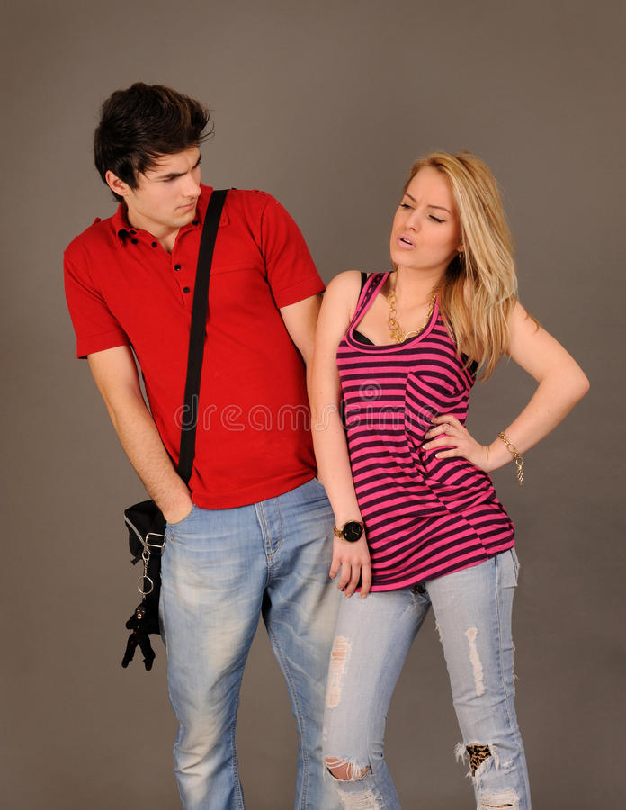 Download Angry couple. stock photo. Image of caucasian, jeans - 17945006