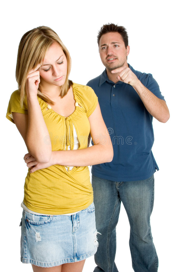Angry Couple royalty free stock photos