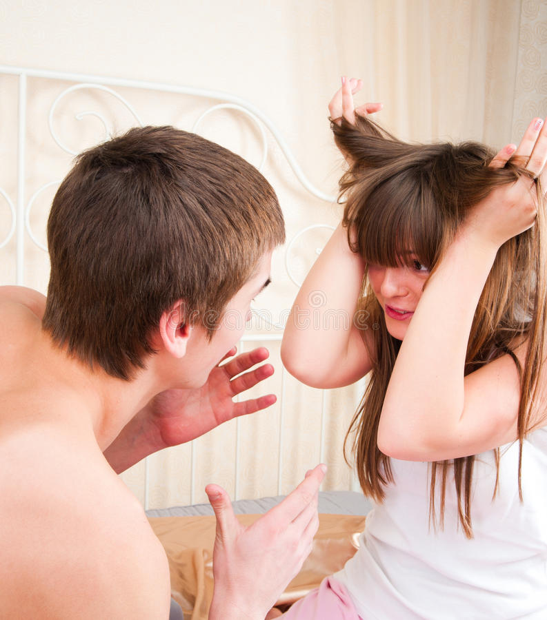 Download An Angry Couple Shouting Each Other Stock Image - Image: 19122711