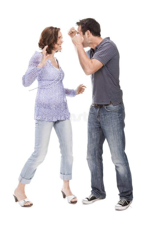 Download Angry Couple Yelling At Each Other Stock Photo - Image: 13864156