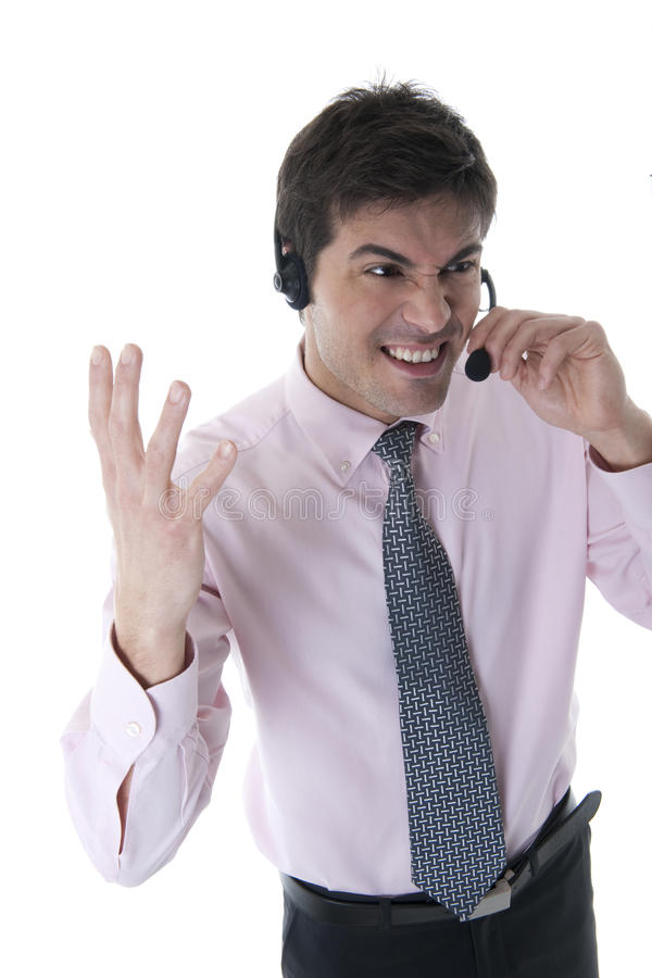Download Angry Customer Service Representative Stock Photo - Image: 17146422