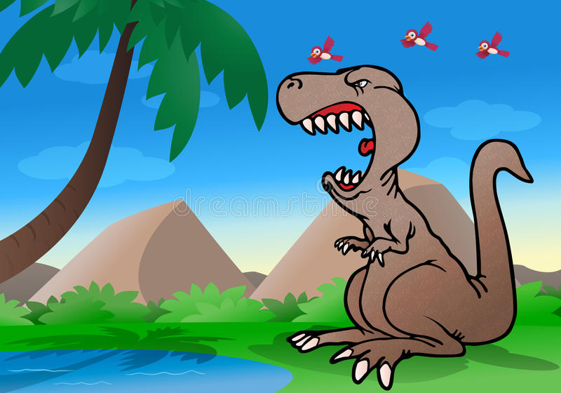 Download Angry dinosaur stock illustration. Illustration of gigantic - 25756916