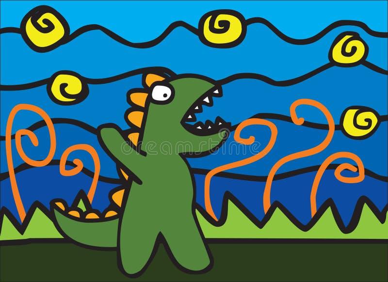 Download Angry Dinosaur stock vector. Image of vector, warning - 25788871