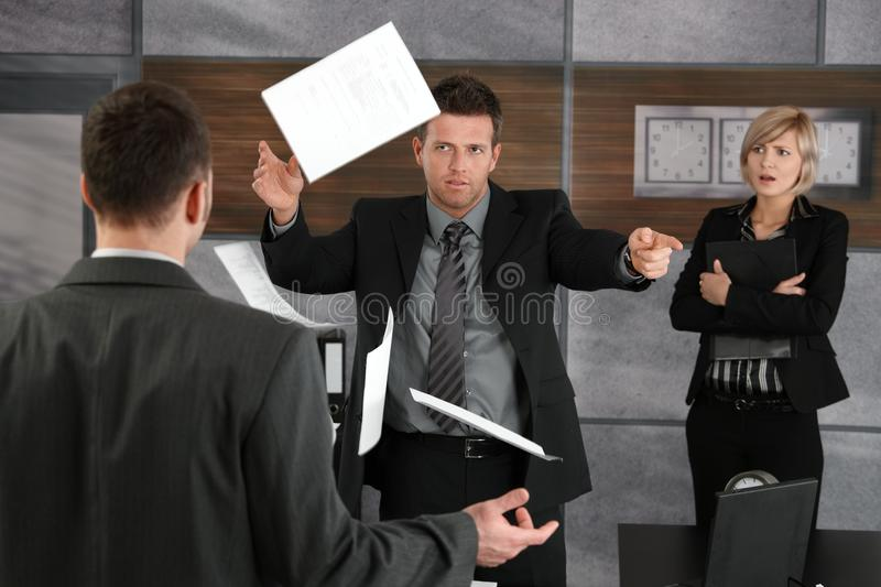 Download Angry Director Rejecting Business Report Stock Photo - Image: 22787916