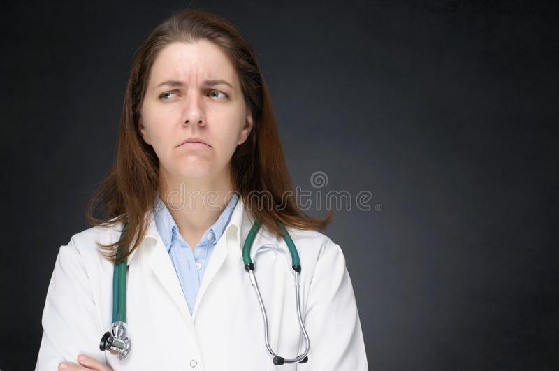 Angry doctor stock images