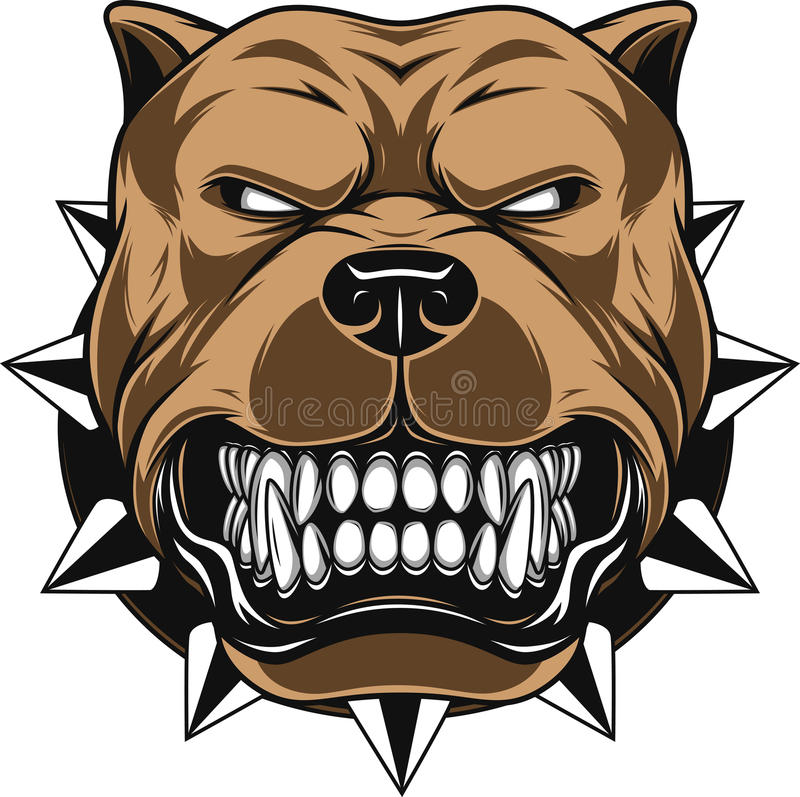 Angry dog vector illustration