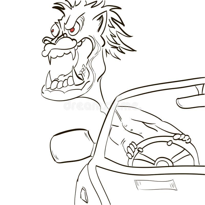 Crazy Driver Stock Illustrations
