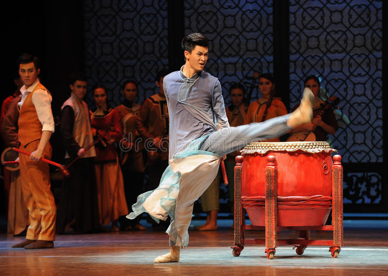 Angry drummer-The third act of dance drama-Shawan events of the past. Guangdong Shawan Town is the hometown of ballet music, the past focuses on the historical royalty free stock photography