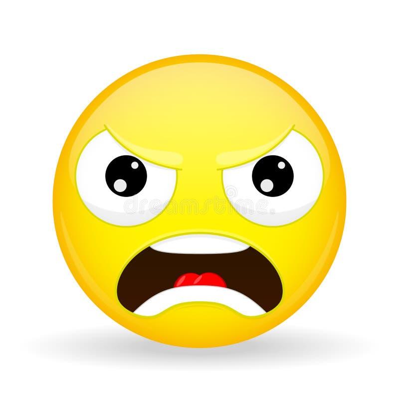 angry emoji emotion of anger evil emoticon cartoon