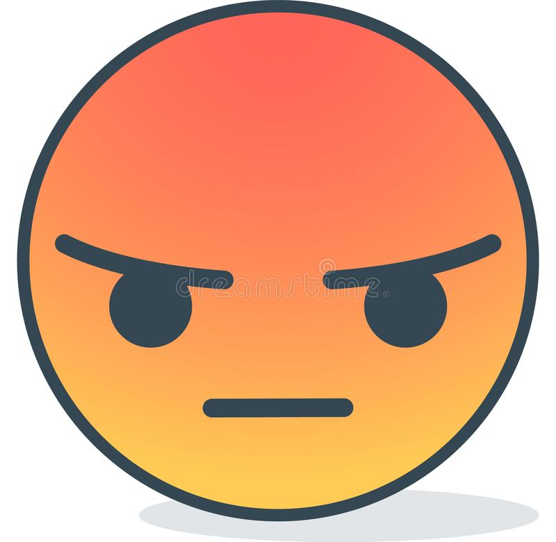 Angry emoticon. Isolated emoticon. royalty free stock images