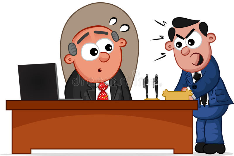 Download Boss Man And Shouting Employee Stock Vector - Image: 28396316