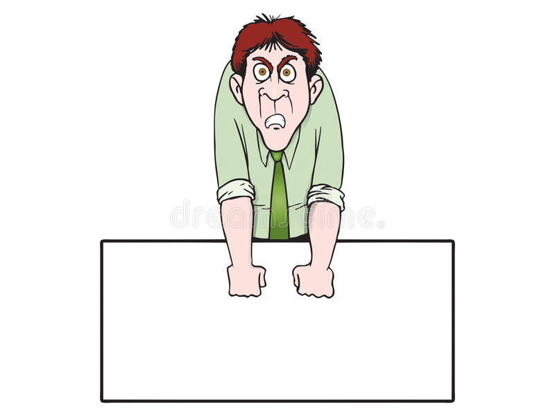 Download Angry expression stock illustration. Image of suit, finance - 14794969