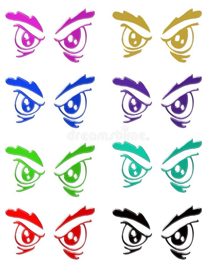 Download Angry eyes symbols stock illustration. Image of eyes, face - 7121428
