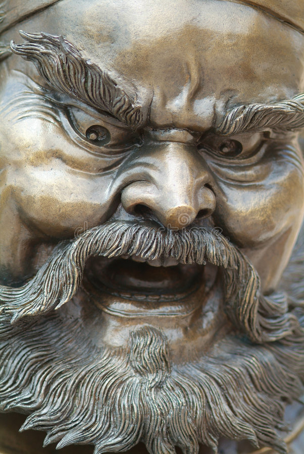 Download Angry face stock image. Image of chinese, sculpture, angry - 2037363
