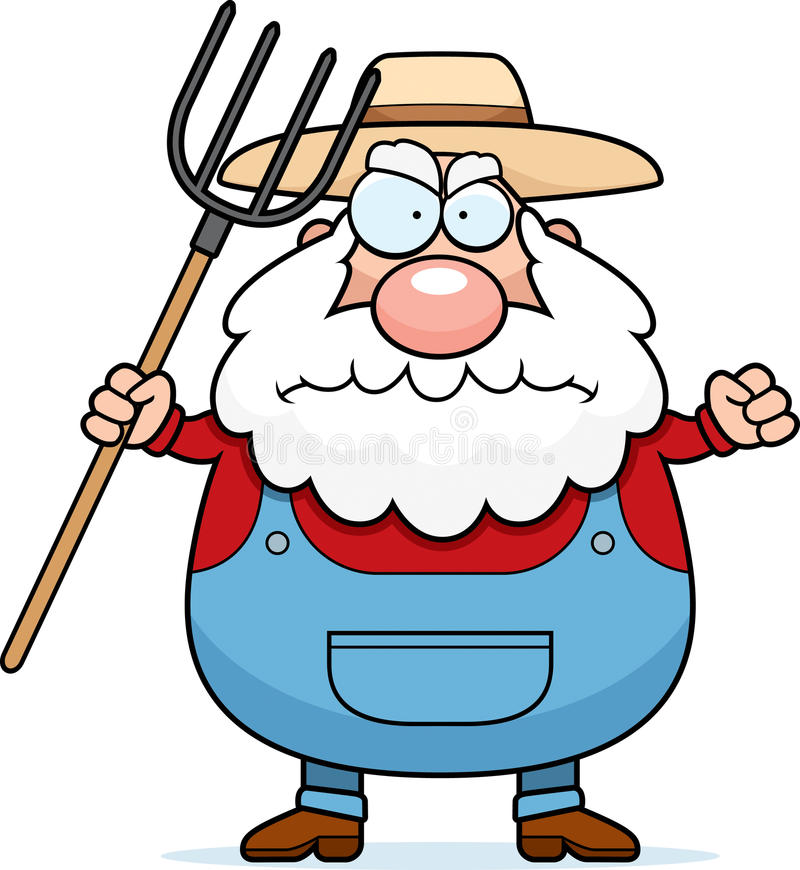 Download Angry Farmer stock vector. Image of farmer, grumpy, overalls - 14426426