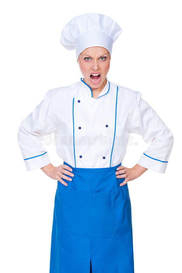 Download Angry Female Cook Looking At Camera Stock Photo - Image: 27567120