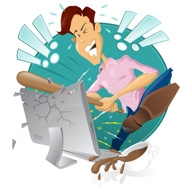 Angry Computer Stock Illustrations – 3,502 Angry Computer Stock  Illustrations, Vectors & Clipart - Dreamstime